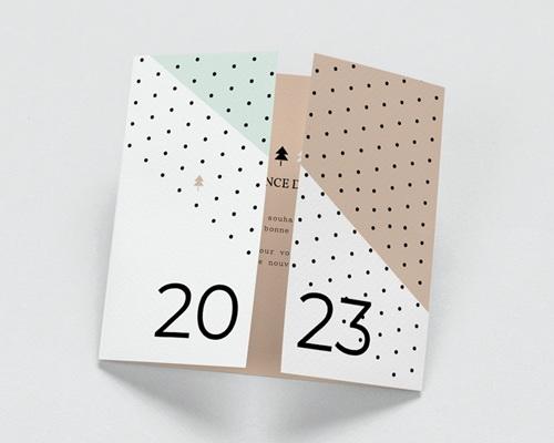 Carte de Voeux Entreprise Géométrique