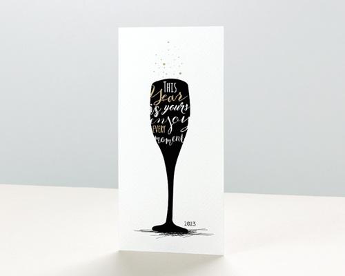 Carte de voeux entreprise - À la nouvelle année !