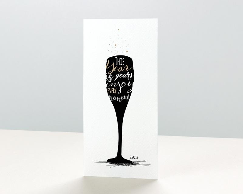Carte de Voeux Entreprise À la nouvelle année !