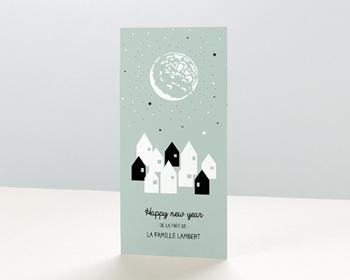 Carte de vœux particulier - Village Etoilé - 0