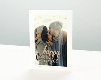 Carte de vœux particulier - Année dorée - 0