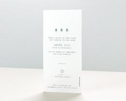 Carte de Voeux Entreprise Hexagone, 2 photos, vernis pas cher
