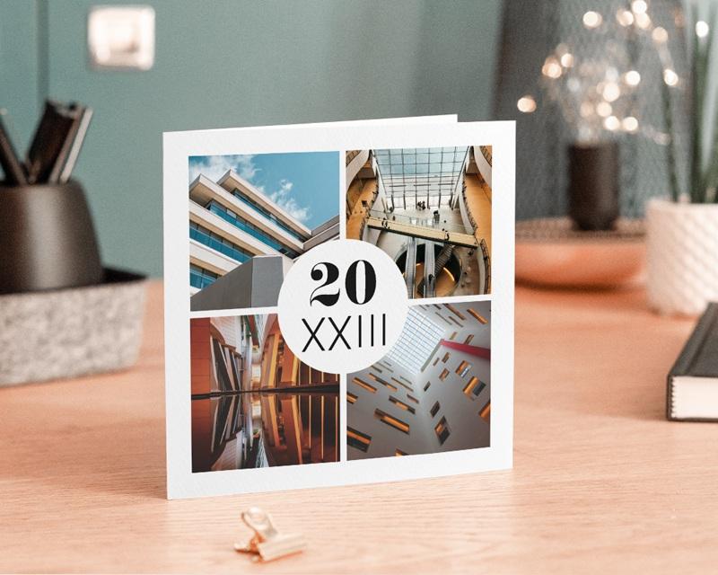 Carte de Voeux Entreprise Cabinet d'architecte gratuit