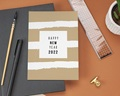 Carte de Voeux Entreprise Happy New Year avec Dorure gratuit