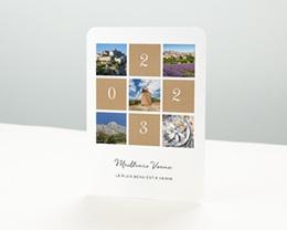 Carte de Voeux Entreprise Palette Nature