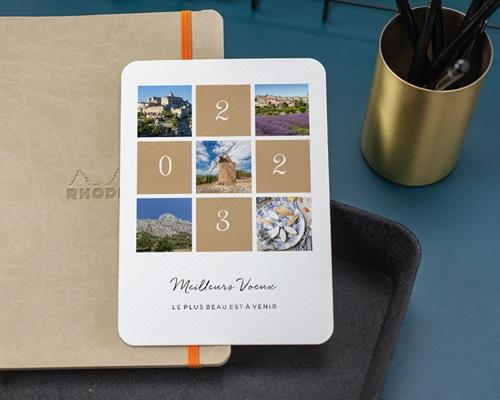 Carte de Voeux Entreprise Palette Nature gratuit