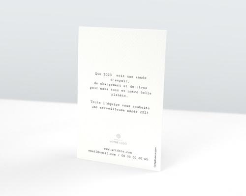 Carte de Voeux Entreprise Vagues & Dorure pas cher