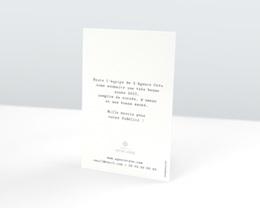 Carte de voeux avec logo d'entreprise Pois & Dorure pas cher