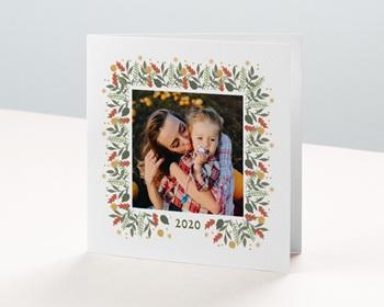 Carte de vœux particulier - Etoile de Noel - 0