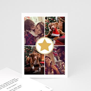 Carte de vœux particulier - Etoile dorée - 0