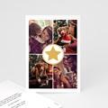 Carte de vœux particulier - Etoile dorée