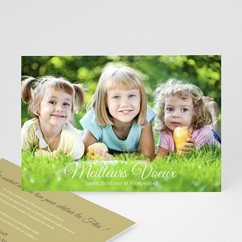Carte de vœux particulier - Photo d'enfance