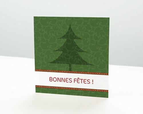 Carte de vœux particulier - Sapin de Noël