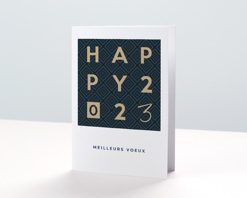 Carte de Voeux Entreprise Happy Or