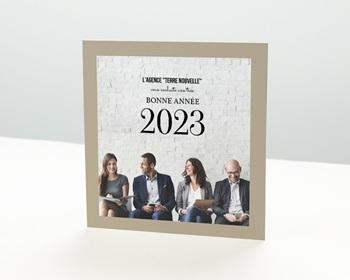Carte de Voeux Entreprise Photo équipe personnalisable