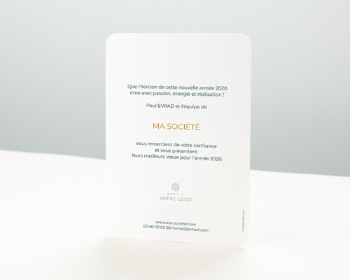 Carte de Voeux Entreprise En chiffres d'or pas cher