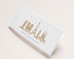 Carte de voeux avec logo d'entreprise European Cities