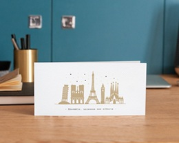 Carte de voeux avec logo d'entreprise European Cities gratuit