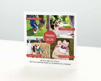 Carte de vœux particulier - Belle année - 0