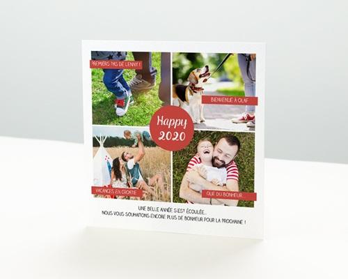 Carte de vœux particulier - Belle année