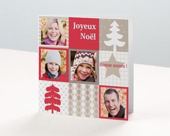 Carte de vœux particulier - Bonne année enneigée - 1