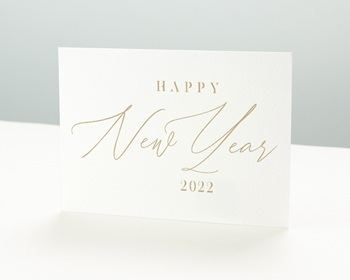Carte de Voeux Professionnelle 2021 New Year Doré