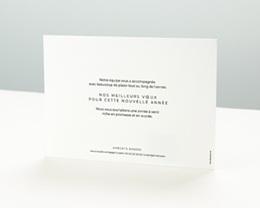 Carte de Voeux Entreprise New Year Doré pas cher