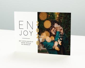 Carte de vœux particulier - Enjoy - 0