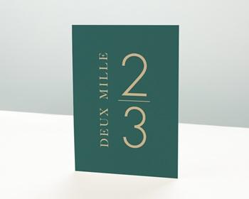 Carte de voeux entreprise - Millésime vert - 0