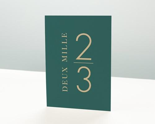 Carte de Voeux Entreprise Millésime vert