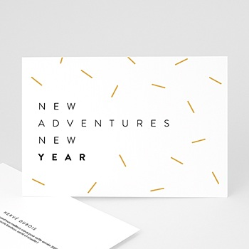 Carte de Voeux Professionnelle 2021 New Adventure New year Doré