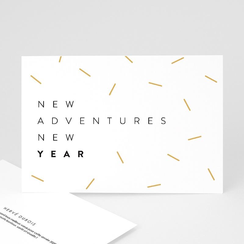 Carte de Voeux Entreprise New Adventure New year Doré
