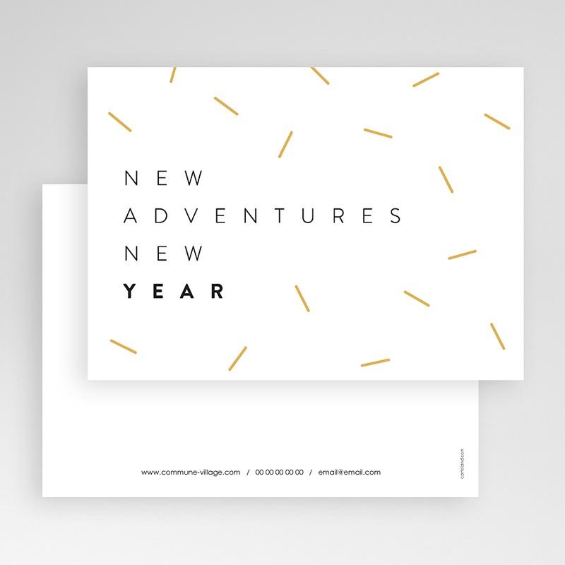 Carte de Voeux Entreprise New Adventure New year Doré gratuit