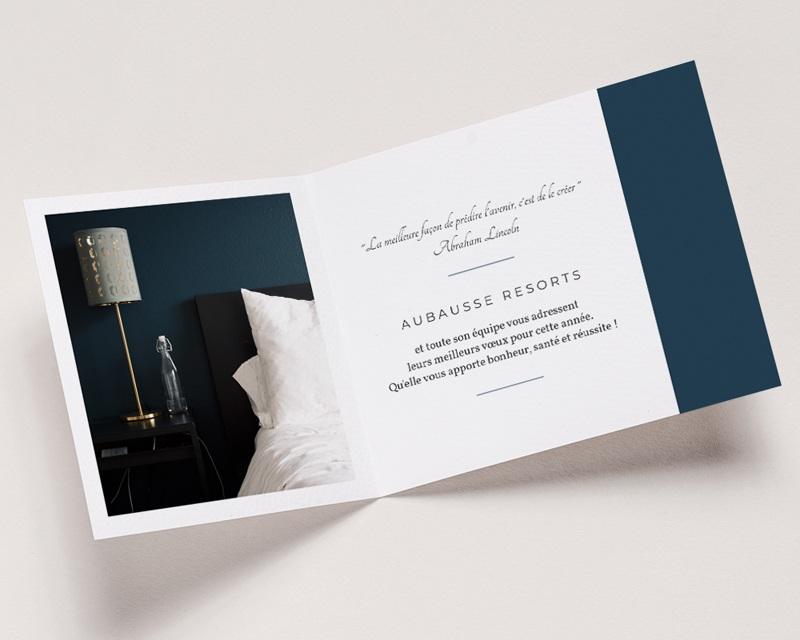 Carte de Voeux Entreprise Hôtellerie pas cher