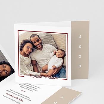 Carte de vœux particulier - Photo de famille - 0