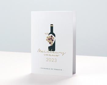 Carte de voeux entreprise - Métiers du vin - 0