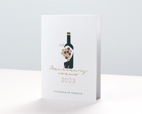 Carte de voeux entreprise - Métiers du vin