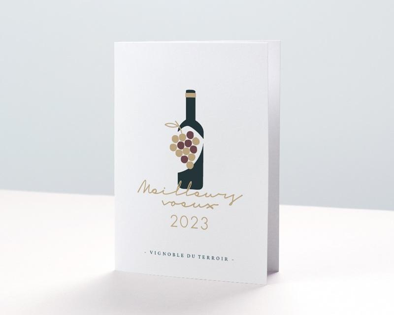 Carte de Voeux Entreprise Métiers du vin