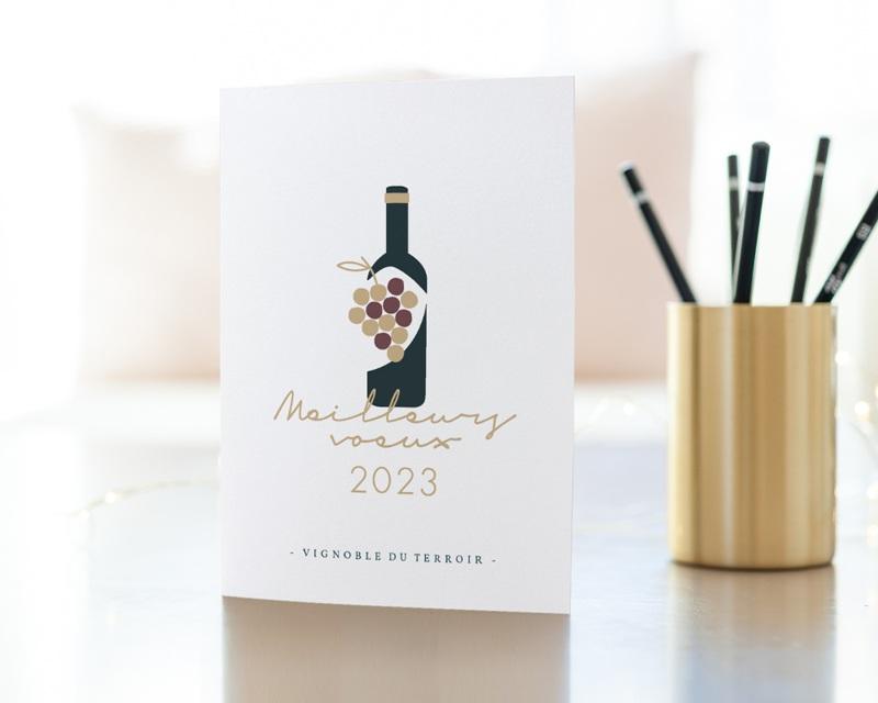 Carte de Voeux Entreprise Métiers du vin gratuit