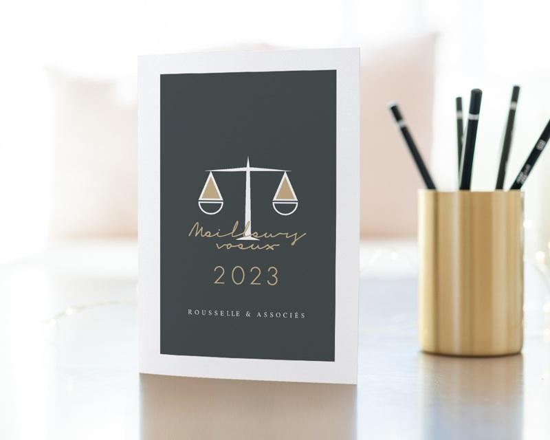 Carte de Voeux Entreprise Avocats et Juristes gratuit
