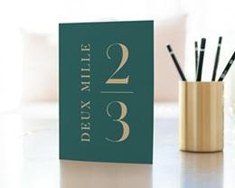 Carte de Voeux Entreprise Double Millésime gratuit