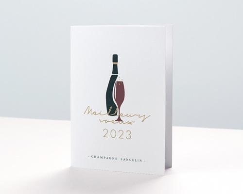 Carte de voeux entreprise - Champagne