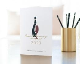 Carte de Voeux Entreprise Champagne gratuit