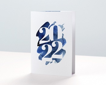 Carte de Voeux Entreprise 20 sur 20 Double personnalisable