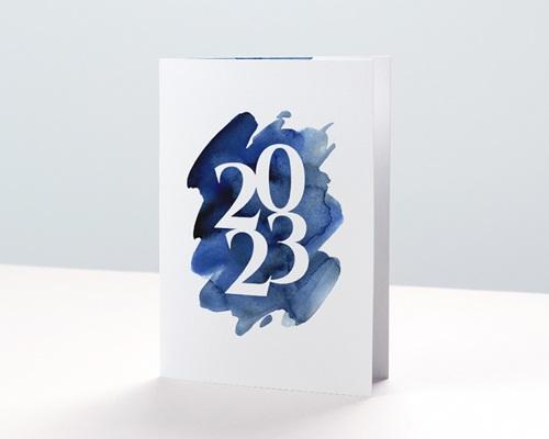 Carte de Voeux Entreprise 20 sur 20 Double
