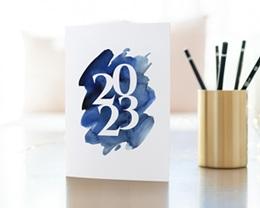 Carte de Voeux Entreprise 20 sur 20 Double gratuit