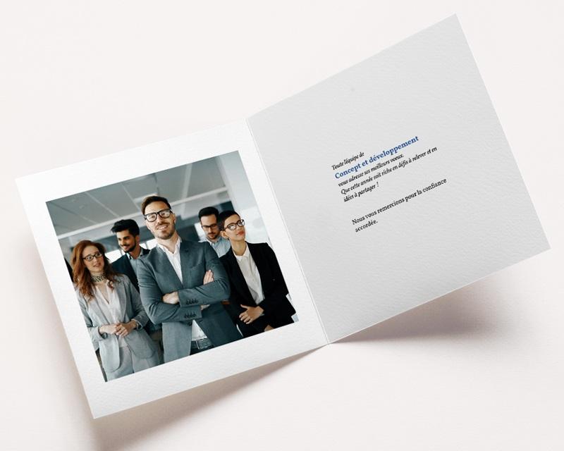 Carte de Voeux Entreprise Marbre bleu Doré pas cher