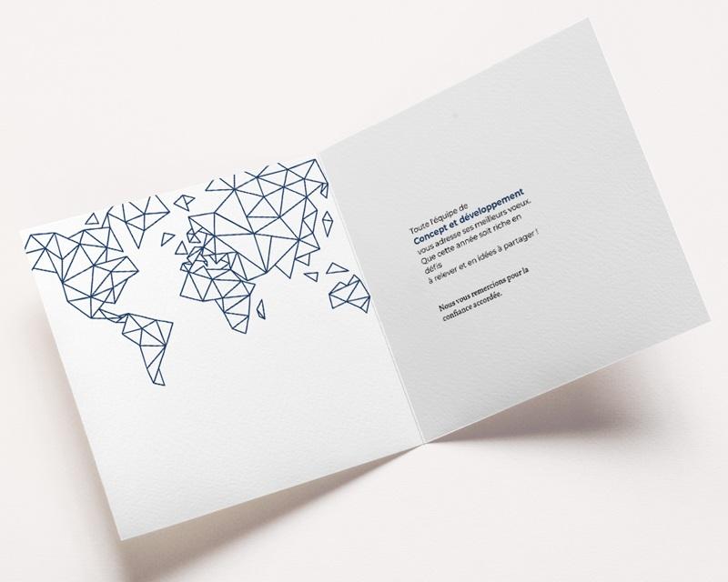 Carte de Voeux Entreprise Monde Vernis pas cher