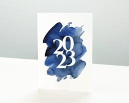 Carte de voeux avec logo d'entreprise 20 sur 20 Simple
