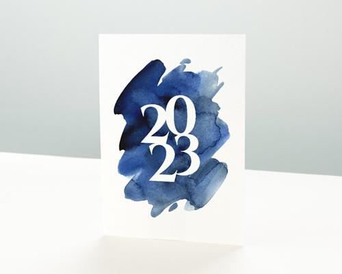 Carte de Voeux Entreprise 20 sur 20 Simple